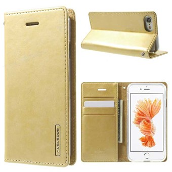 Image of   iphone 7/8 Simple Classic Blue Moon Card Slot Wallet Leather - Guld / under updatering